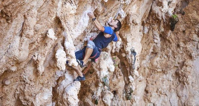 Rock climbing, image via Shutterstock