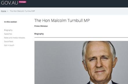 Gov AU alpha applied to pm.gov.au website