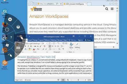 Amazon WorkSpaces on an Apple iPad