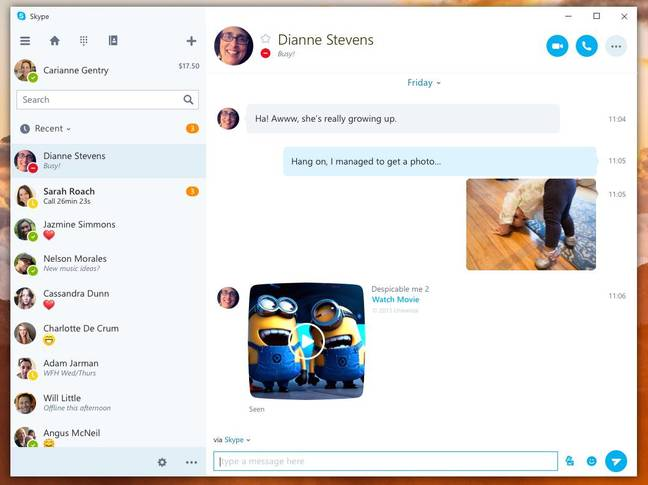 how to i change settings in skype windows 10