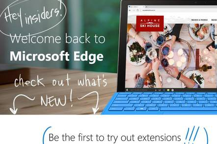 Edge supports JavaScript extensions in the latest preview build