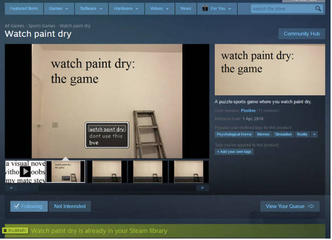 Watch Paint Dry on Steam
