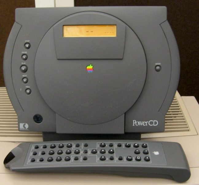 Apple Power CD remote side view