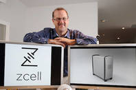 Simon Hackett shows off the ZCell