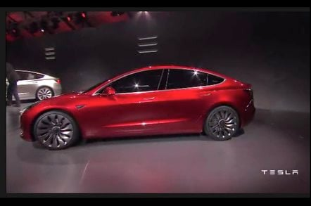Elon Musk takes wraps off planet-saving Model 3 vapourmobile • The