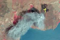 ASTER image of a Nicaraguan volcano erupting