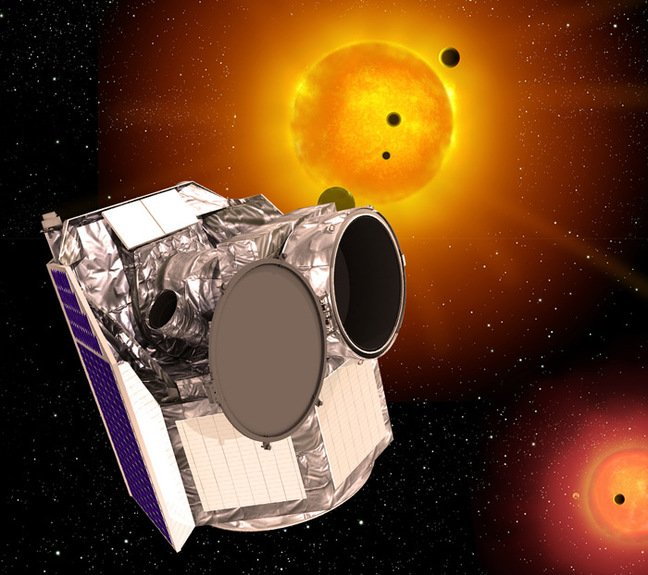 Artist's impression of the CHEOPS spacecraft