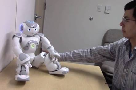 Test robot instructs buttock touch