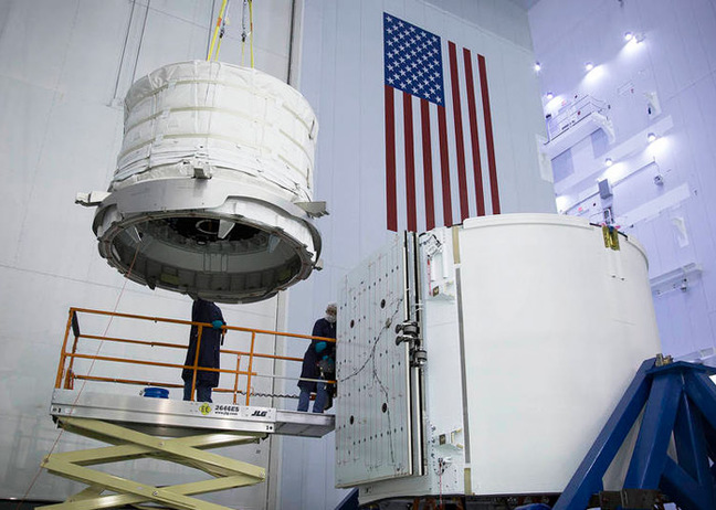 BEAM being loaded into the Dragon spacecraft. Pic: SpaceX