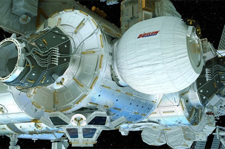 BEAM at the ISS. Pic: Bigelow Aerospace