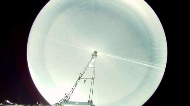 The engorged SPB balloon. Pic: NASA / Bill Rodman