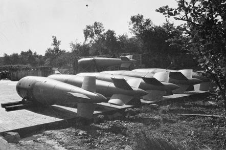 Tallboy bomb dump. Pic: Australian War Memorial