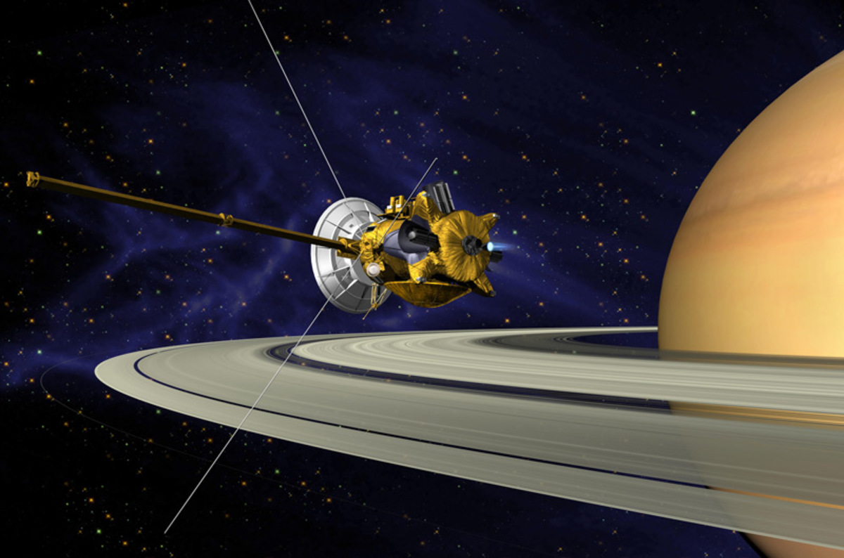 photo image Cassini probe's death dive to send data at just 27 kilobits per second