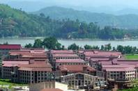 Academic Complex of IIT Guwahati, including all the departments and centres,  on the bank of River Brahmaputra. Photo by Satyadeep Karnati