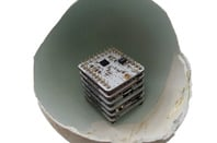 Microduino stack inside eggshell