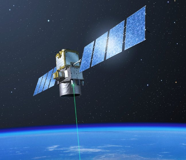 Calipso satellite firing laser earthwards. Pic: Cnes