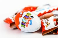 Kinder egg on a bed of Kinder chocs. Photo by Radu Bercan/Shutterstock/Editorial use only