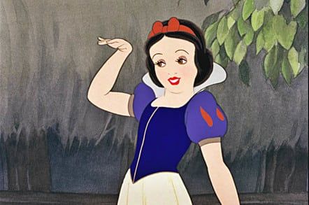 Snow White waves goodbye. Photo copyright Disney