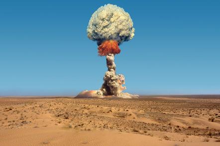 Explosion, image via Shutterstock