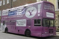 Yahoo! branded bus