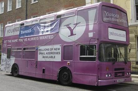Yahoo! branded bus