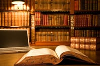 Books and laptop