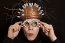Crazy inventor, image via Shutterstock
