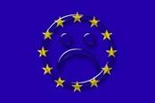 European flag with sad face