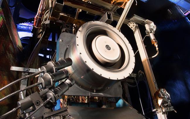 A Hall thruster at at NASA's Glenn Research Center. Pic: NASA