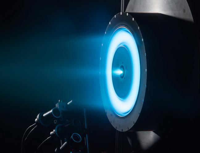 A NASA Hall thruster firing. Pic: NASA