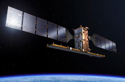 Artist's impression of Sentinel-1B in orbit. Pic: ESA / Pierre Carril