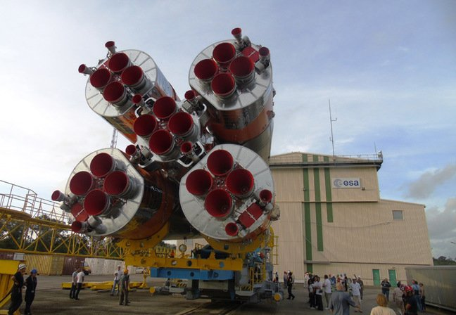 The Soyuz moves to the launchpad at Kourou. Pic: ESA