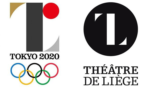 The old 2020 Olympics logo and the Théâtre de Liège logo