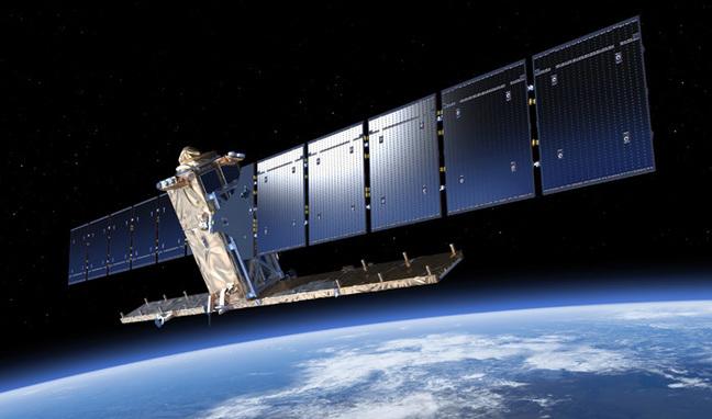 A Sentinel-1 satellite. Pic: ESA / ATG medialab