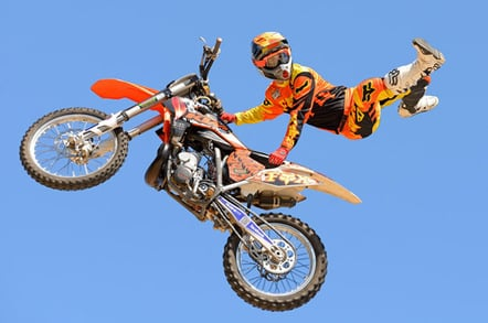 Bike jumper, image Christian Bertrand courtesy Shutterstock