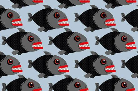 Piranha fish pattern illustration