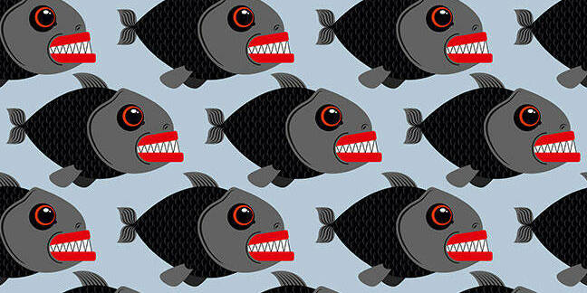 Piranha fish pattern illustration