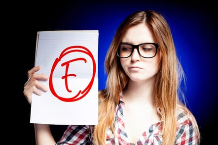Nerd fail photo via Shutterstock