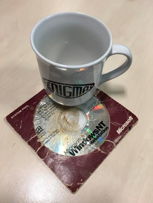 Windows NT workstation CD coaster
