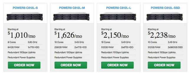SoftLayer's POWER8 bare metal server pricing