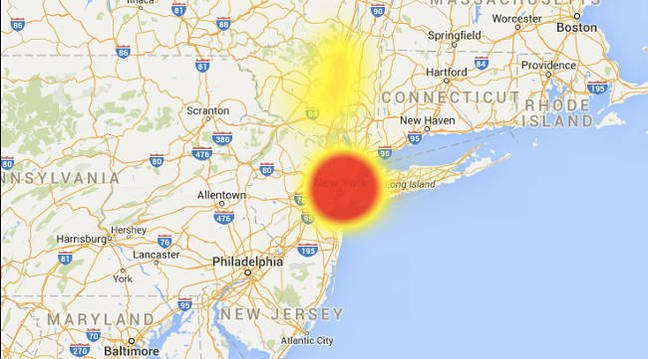 Map of TWC outage