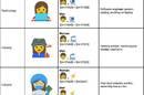 Some of Google's proposed emoji depicting women at work