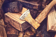 Logs and an axe