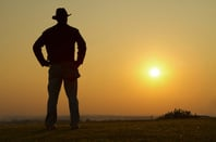 Lone cowboy, photo via Shutterstock