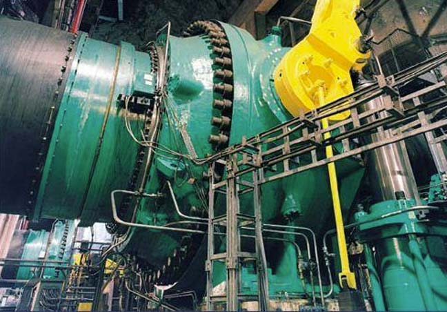Turbine and counter weight, photo by First Hydro Company