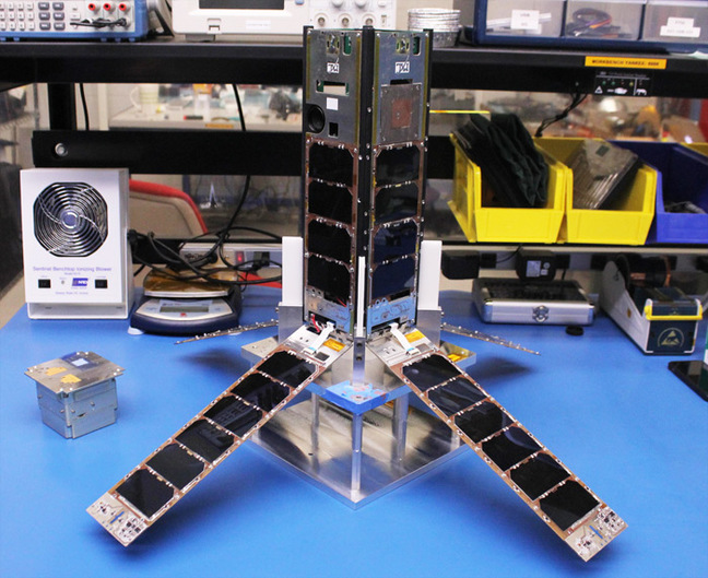 CADRE with its solar panels deployed. Pic: University of Michigan