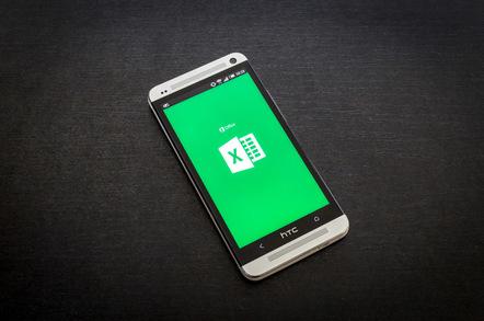 Excel on smart phone, photo via RoSonic on Shutterstock