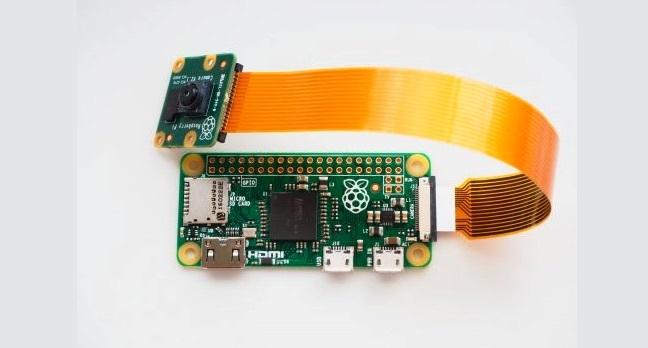Raspberry Pi Zero v. 1.3 with camera connector