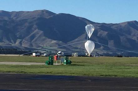 NASA's SPB with its tow balloon