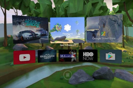 Google's VR entry page